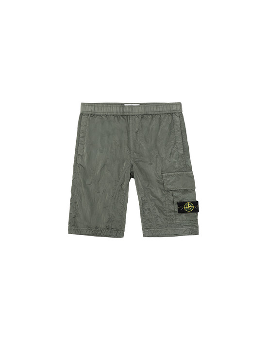 STONE ISLAND JUNIOR L0315 NYLON METAL RIPSTOP Bermuda Man Sage Green