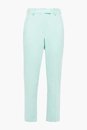RACIL Cropped wool-twill slim-leg pants