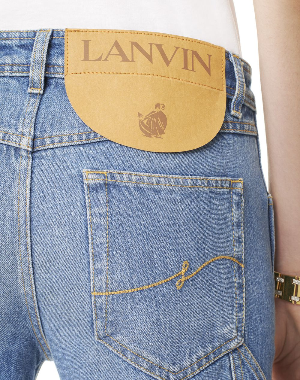 TWISTED LEG DENIM PANTS - Lanvin