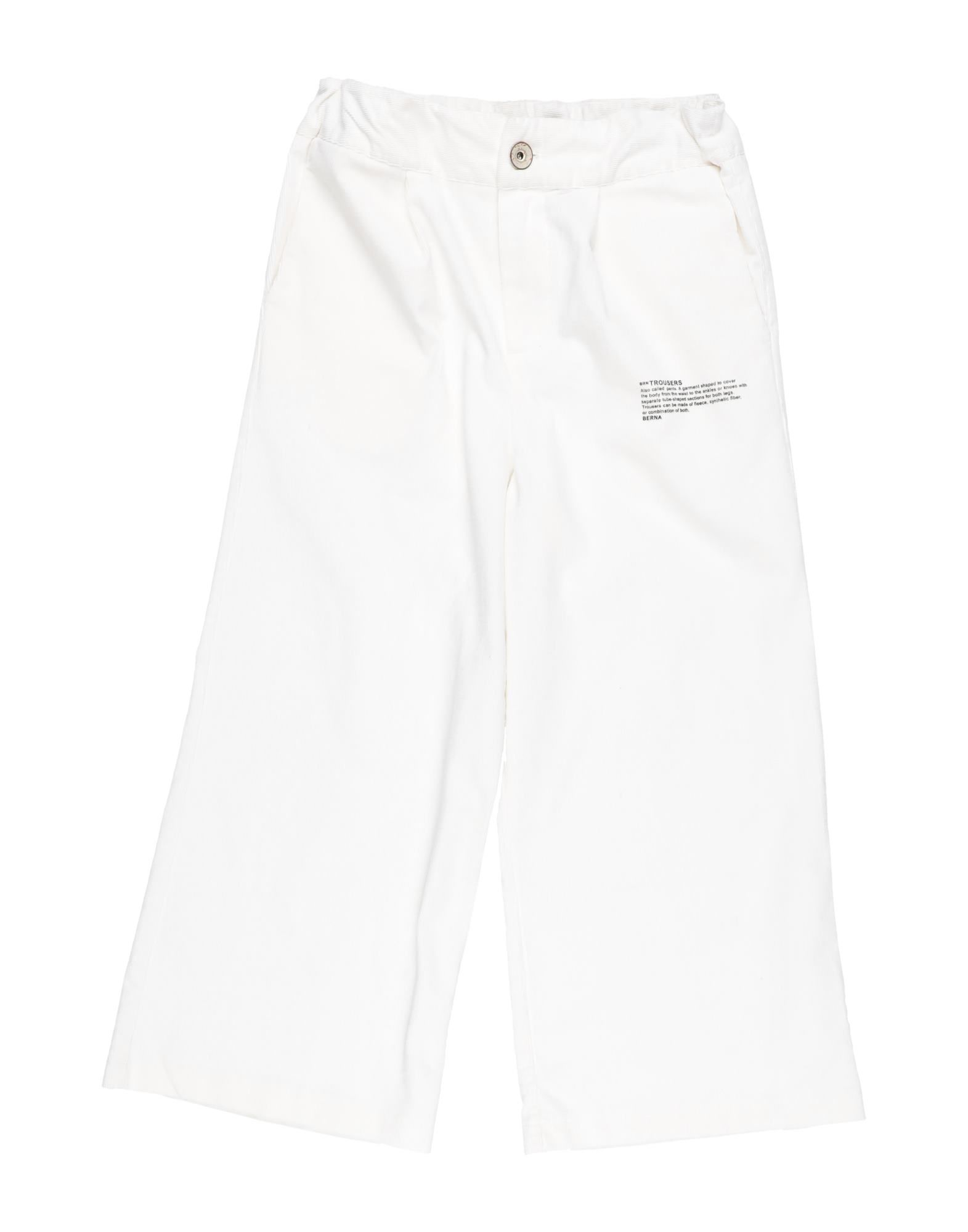 Berna Kids' Casual Pants In White
