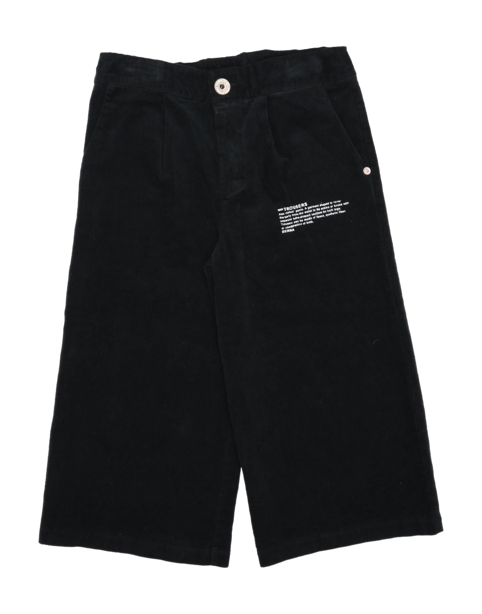 Berna Kids' Casual Pants In Black