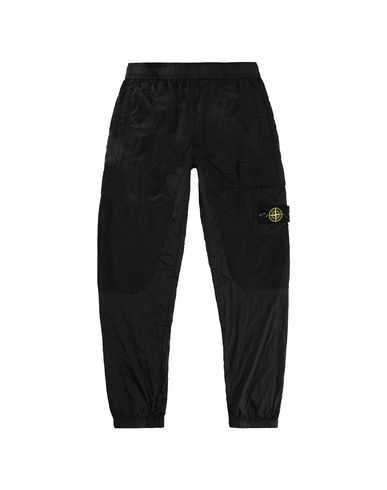STONE ISLAND JUNIOR 30215 NYLON METAL RIPSTOP Trousers Man Black EUR 180