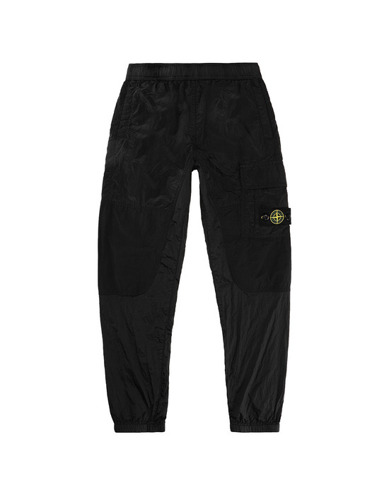 Pants Man 30215 NYLON METAL RIPSTOP Front STONE ISLAND JUNIOR
