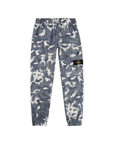 STONE ISLAND JUNIOR 30637 CAMOUFLAGE Trousers Man Blue EUR 187