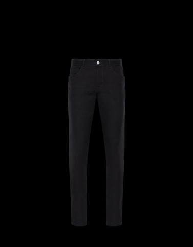 CASUAL TROUSER Black Trousers Man