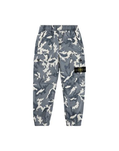 STONE ISLAND KIDS 30637 CAMOUFLAGE Pants Man Blue USD 141