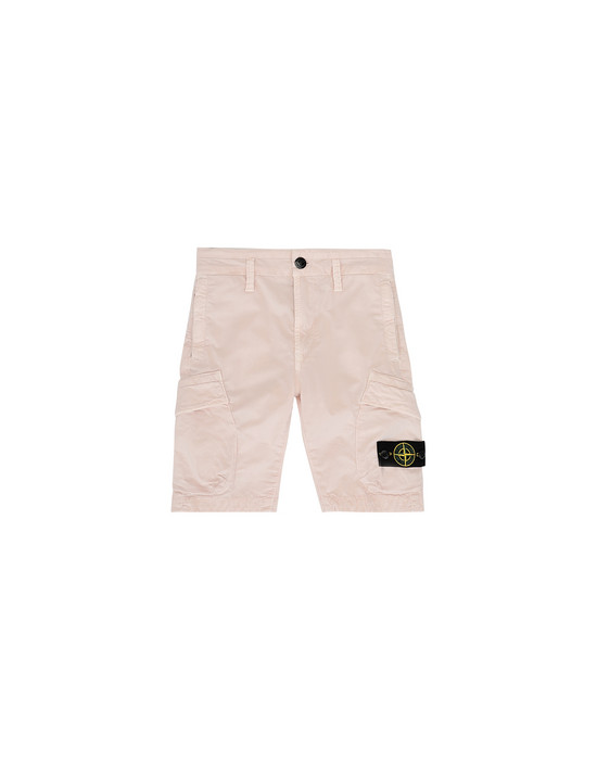 STONE ISLAND KIDS L0111 T.CO+OLD Bermuda Man Stucco