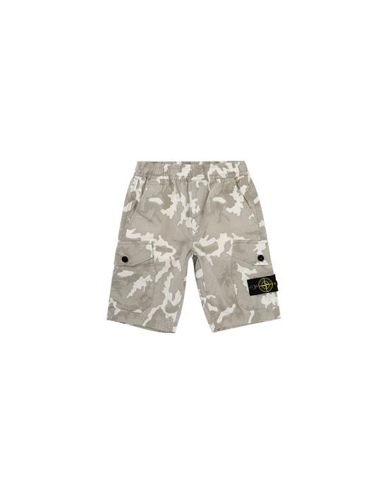 STONE ISLAND KIDS L0737 CAMOUFLAGE Bermuda shorts Man Beige