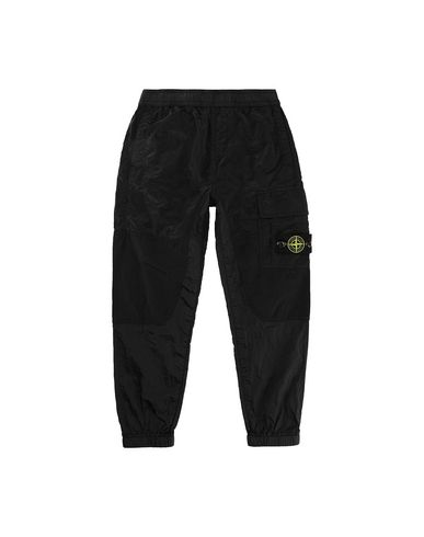 STONE ISLAND KIDS 30215 NYLON METAL RIPSTOP Pants Man Black USD 161