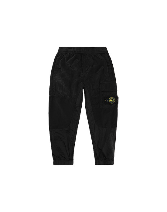 STONE ISLAND JUNIOR 30215 NYLON METAL RIPSTOP Trousers Man Black