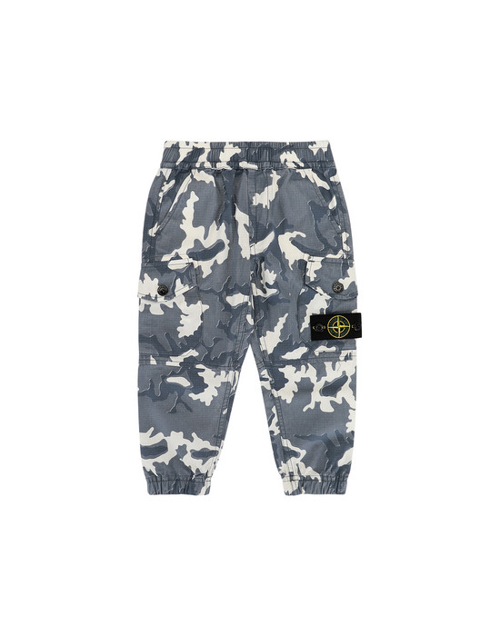 STONE ISLAND JUNIOR 30637 CAMOUFLAGE Trousers Man Blue