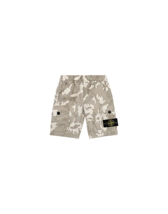STONE ISLAND BABY L0737 CAMOUFLAGE Bermuda shorts Man Beige