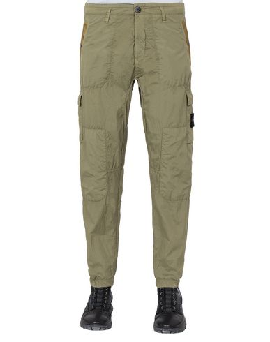 STONE ISLAND 32029 S.I.PA/PL SEERSUCKER-TC  Pants Man Dark Beige USD 215