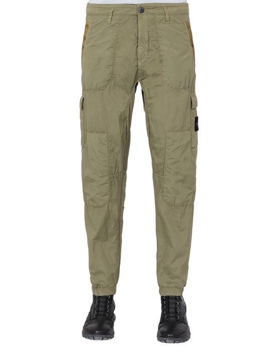 STONE ISLAND 32029 S.I.PA/PL SEERSUCKER-TC  Trousers Man Dark Beige