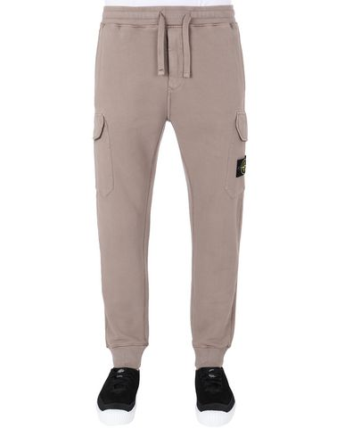 STONE ISLAND 63220 Fleece Trousers Man Mud EUR 269