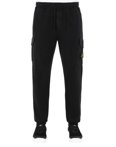 STONE ISLAND 63220 Fleece Pants Man Black USD 248