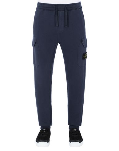 STONE ISLAND 63220 Fleece Trousers Man Marine Blue EUR 269