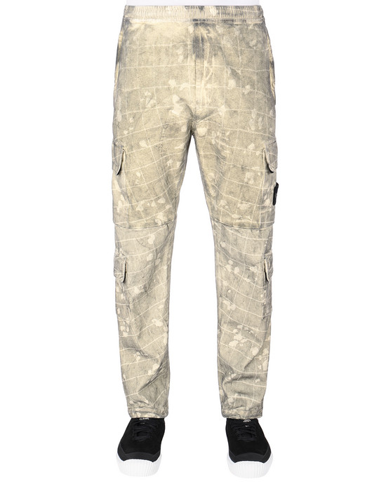 STONE ISLAND 317E2 DUST COLOUR WITH GHILLIE LASER CAMO 长裤 男士 黄油色