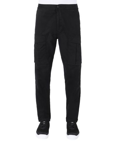 STONE ISLAND 30710 Trousers Man Black EUR 319