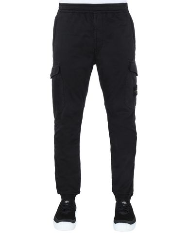 STONE ISLAND 31414 Trousers Man Black EUR 309