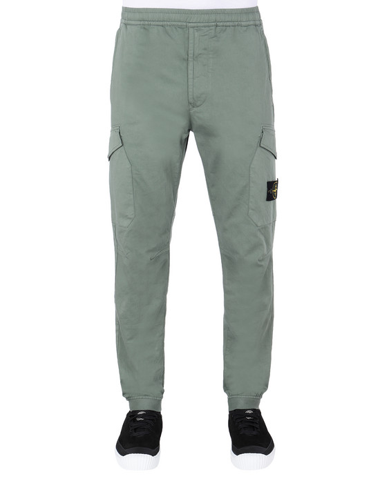STONE ISLAND 31414 Pants Man Sage Green