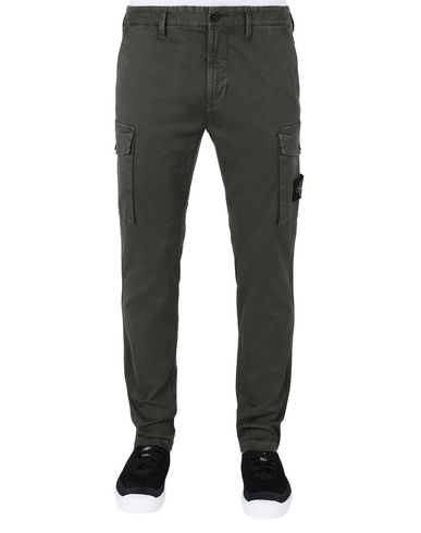 STONE ISLAND 318L1 T.CO+'OLD' Trousers Man Musk Green EUR 260
