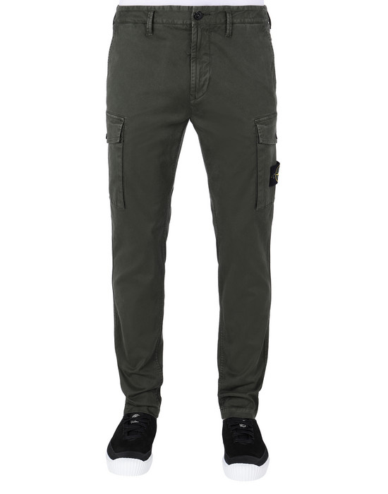 STONE ISLAND 318L1 T.CO+'OLD' Trousers Man Musk Green