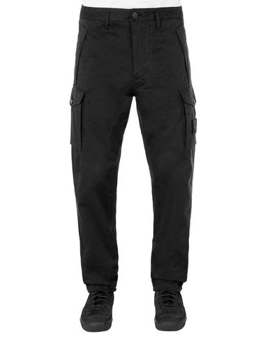 STONE ISLAND 326F4 GHOST PIECE Pants Man Black EUR 178