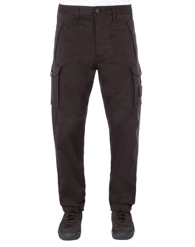 STONE ISLAND 326F4 GHOST PIECE Trousers Man Dark Brown EUR 235
