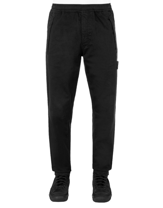 STONE ISLAND 325F4 GHOST PIECE Pants Man Black