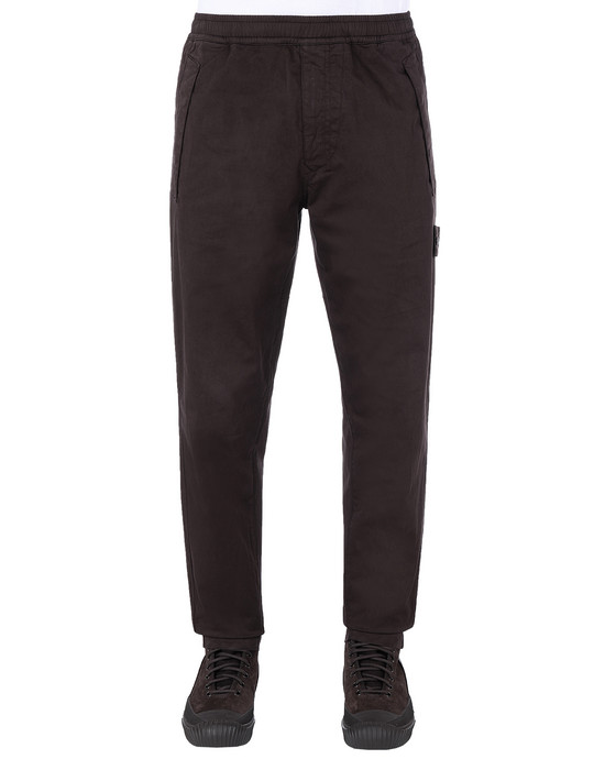 STONE ISLAND 325F4 GHOST PIECE Pants Man Dark Brown