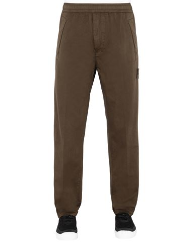 STONE ISLAND 325F4 GHOST PIECE Trousers Man Military Green EUR 216