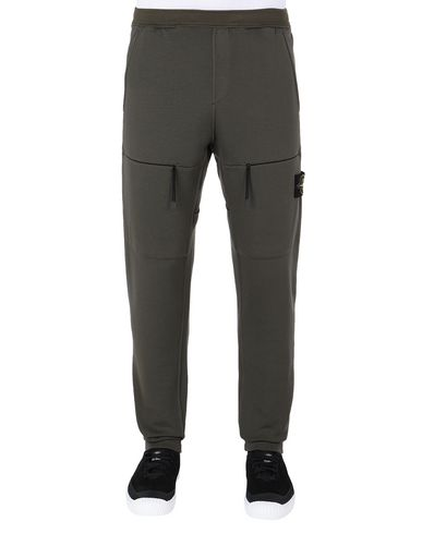 STONE ISLAND 63847 Fleece Pants Man Musk Green USD 287