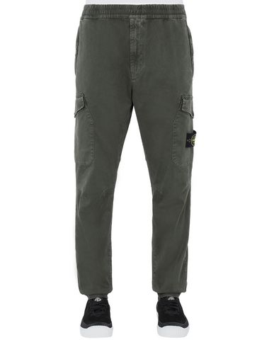 STONE ISLAND 314L1 T.CO+'OLD' Trousers Man Musk Green EUR 260