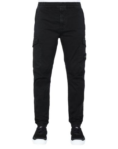 STONE ISLAND 314L1 T.CO+'OLD' Trousers Man Black EUR 295