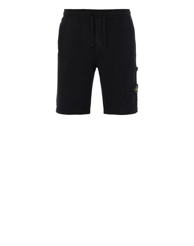 STONE ISLAND 64620 Bermuda shorts Man Black EUR 132