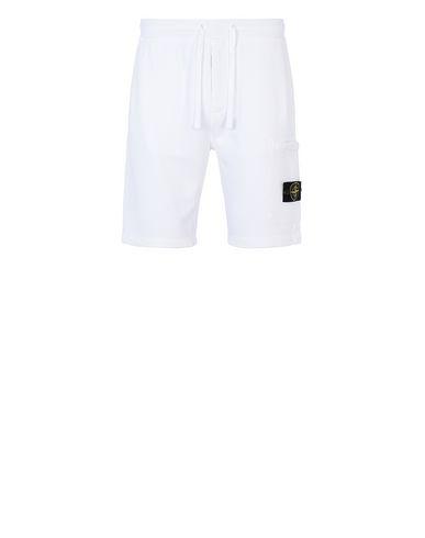 STONE ISLAND 64620 Bermuda shorts Man White EUR 132