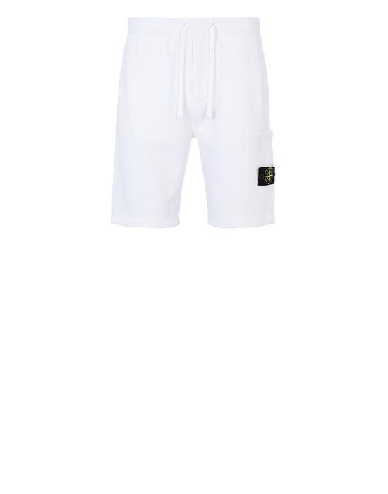 STONE ISLAND 64620 Bermuda shorts Man White