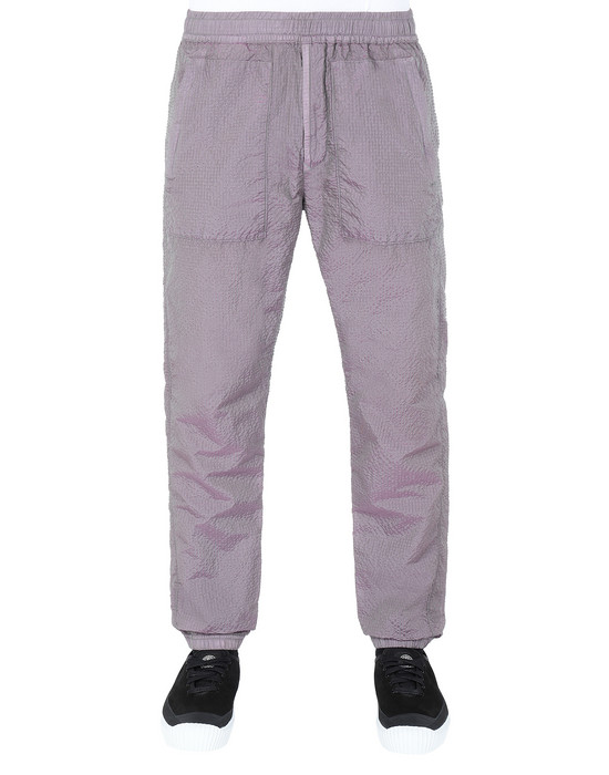 STONE ISLAND 63734 POLY-COLOUR FRAME-TC Fleece Trousers Man Sage Green