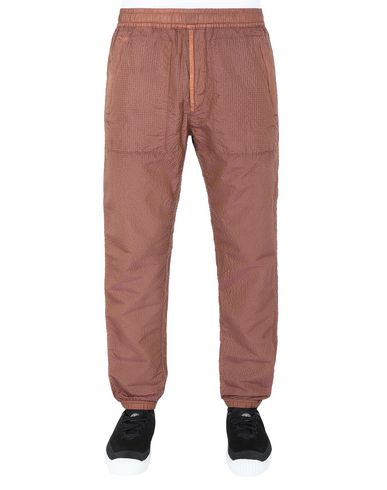 STONE ISLAND 63734 POLY-COLOUR FRAME-TC Fleece Pants Man Tobacco USD 320