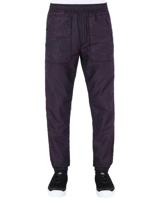 STONE ISLAND 63734 POLY-COLOUR FRAME-TC Fleece Pants Man Black