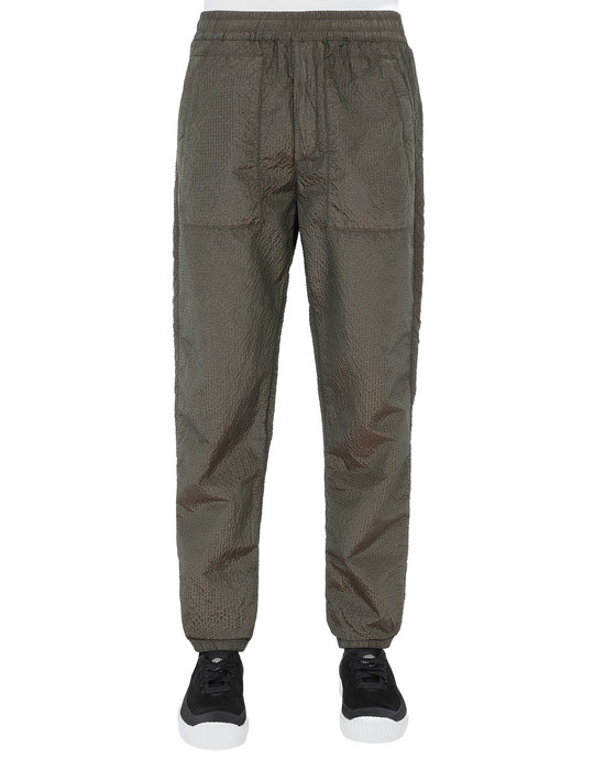 STONE ISLAND 63734 POLY-COLOUR FRAME-TC Fleece Trousers Man Musk Green