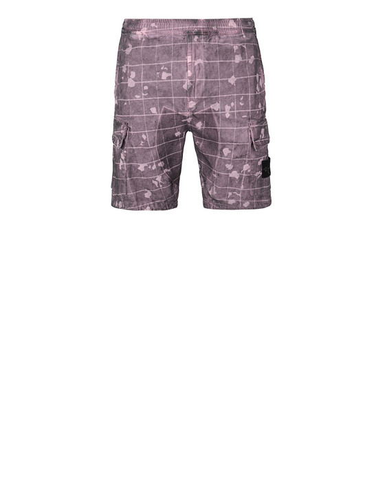 Bermuda shorts Man L01E2 DUST COLOUR WITH GHILLIE LASER CAMO Front STONE ISLAND