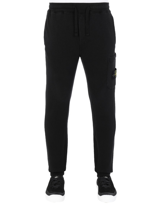 Sold out - STONE ISLAND 64520 Fleece Pants Man Black