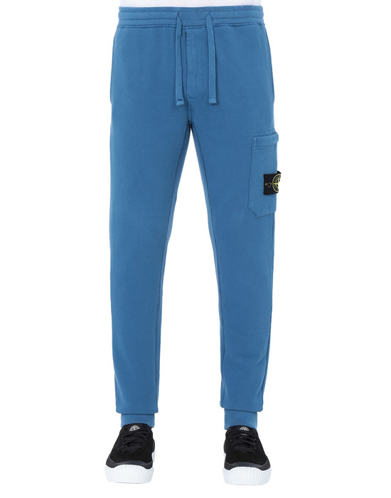 STONE ISLAND 64520 Fleece Trousers Man Periwinkle