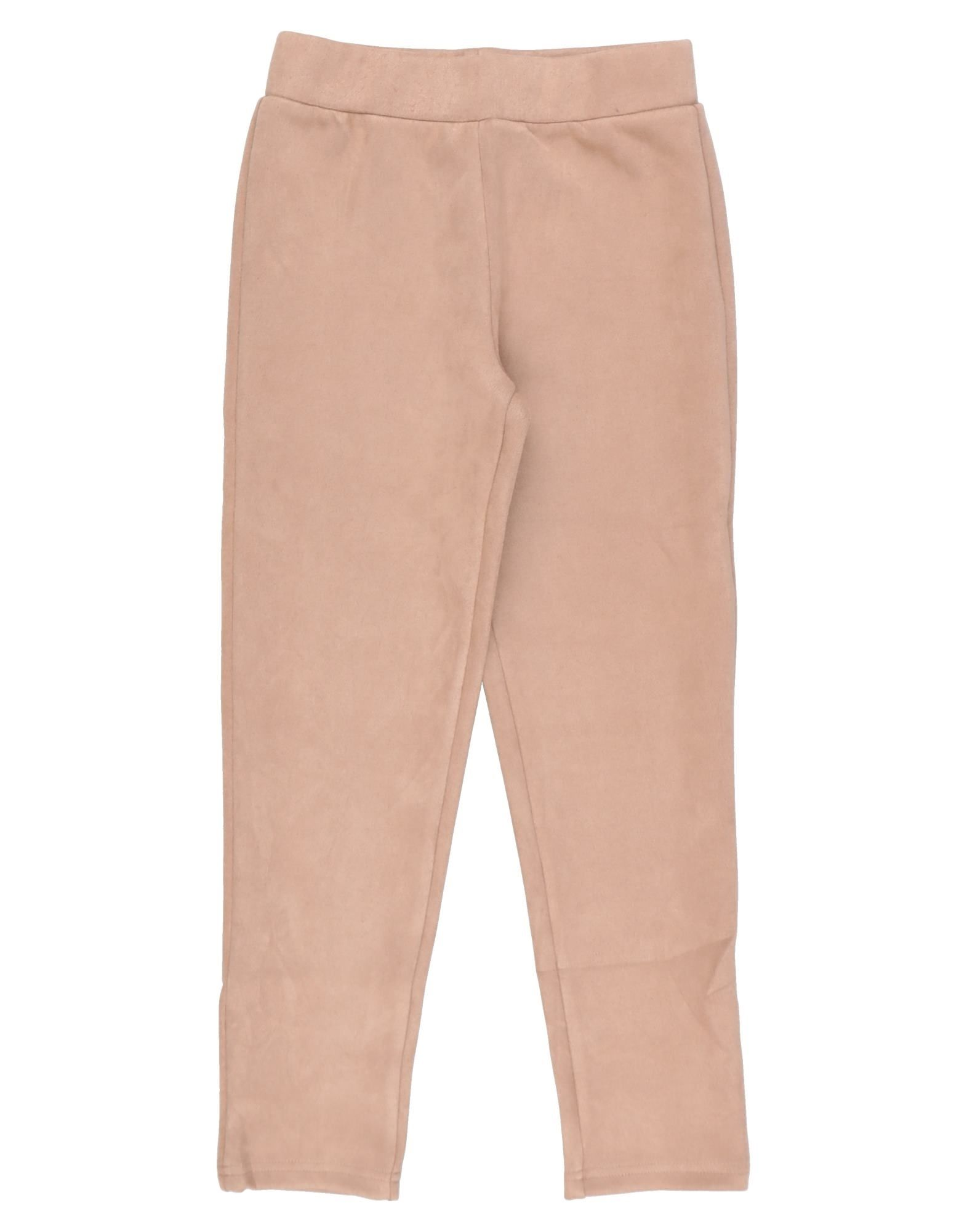 Le Volière Kids' Casual Pants In Sand
