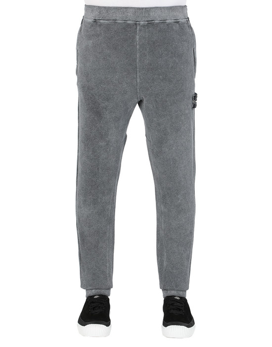 STONE ISLAND 62390 DUST COLOUR TREATMENT Fleece Pants Man Butter Melange