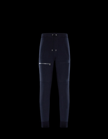 CASUAL TROUSER Dark blue Category JERSEY PANTS Man
