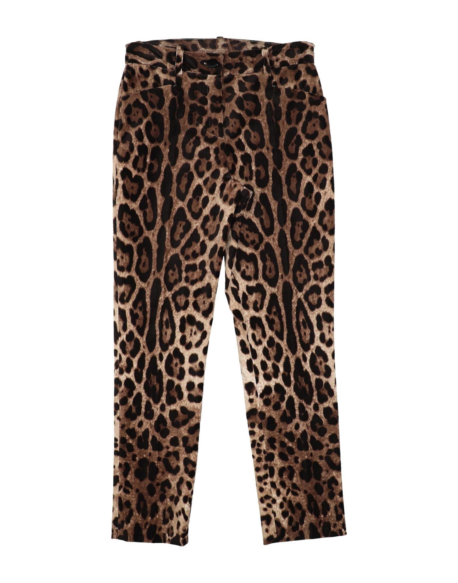 Dolce & Gabbana Kids' Casual Pants In Animal Print