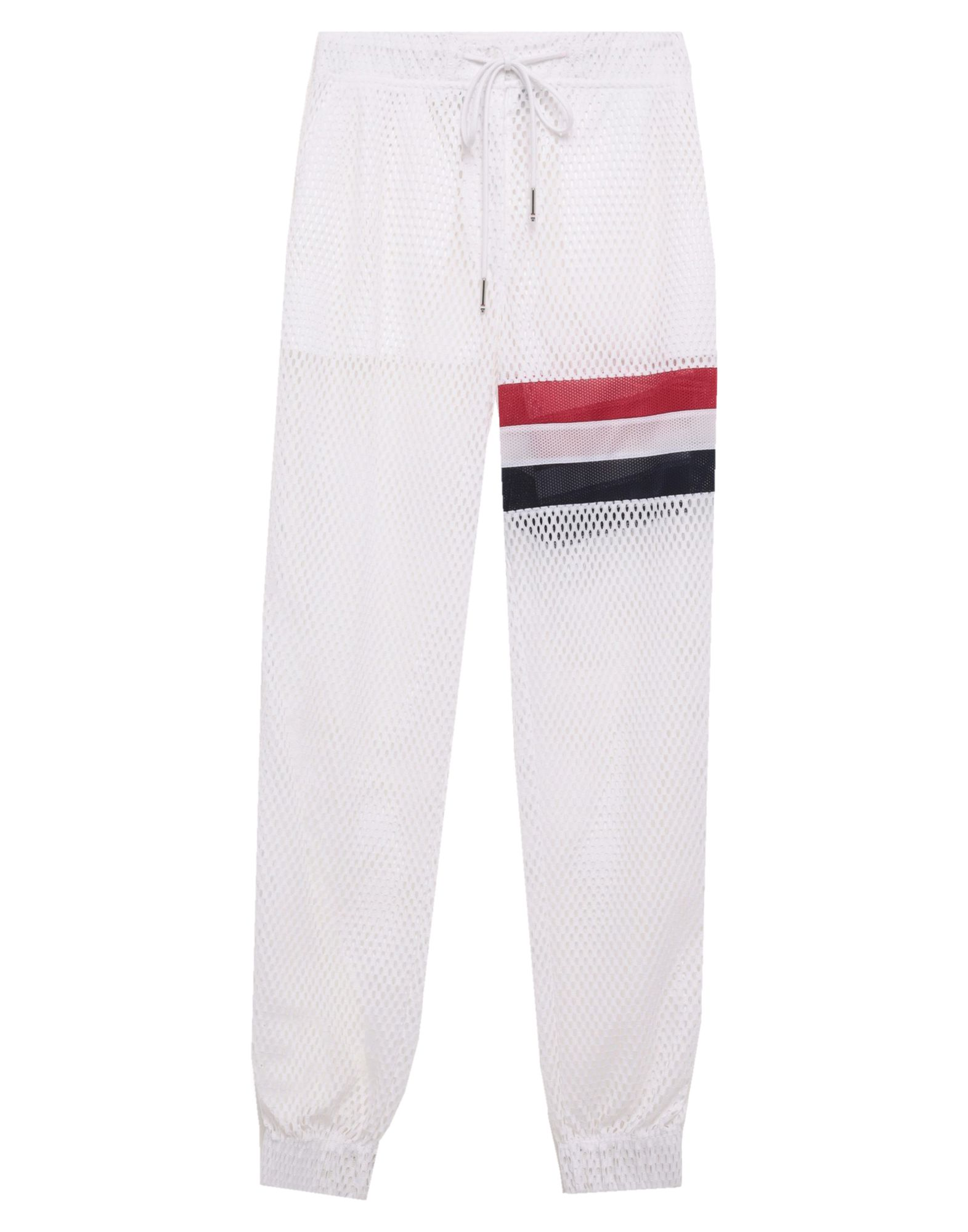 THOM BROWNE Casual pants. plain weave, logo, solid color, mid rise, comfort fit, straight leg, drawstring closure, multipockets. 100% Polyamide, Polyethylene